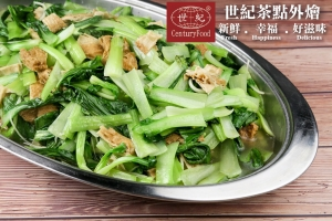 豆皮炒青江菜 Yuba fried bok choy