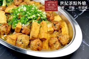 桔醬雞肉丸燴豆腐 Orange sauce chicken meatballs braised tofu