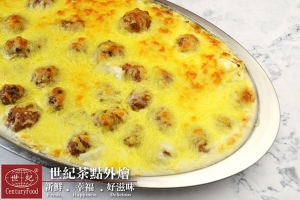 焗烤白菜肉丸子 Baked cabbage meatballs