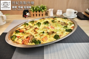 蛋奶素-麵包蔬菜焗蛋 vegetables Cheese bread Baked eggs