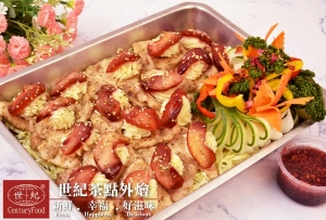蘋果豬排佐玫瑰醬 Apple Pork Chops with Rose Sauce